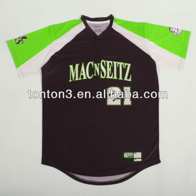 custom dye sublimation baseball jersey