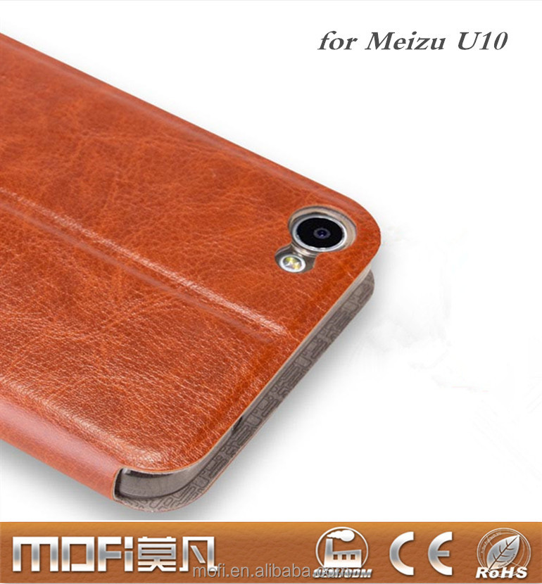 MOFi Flip Case for Meizu <strong>U10</strong> Phone Housings for Meizu <strong>U10</strong> case silicon back cover leather fundas <strong>U10</strong> case phone coque