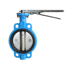China hand operated soft sealing butterfly valve