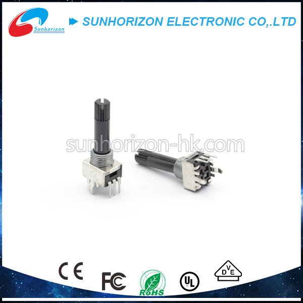 Adjustable rotating carbon film plastic long shaft micro potentiometer