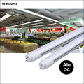 AC120-277V 2ft 4ft 9w 18w ballast bypass type B UL DLC T8 daylight glass led tube