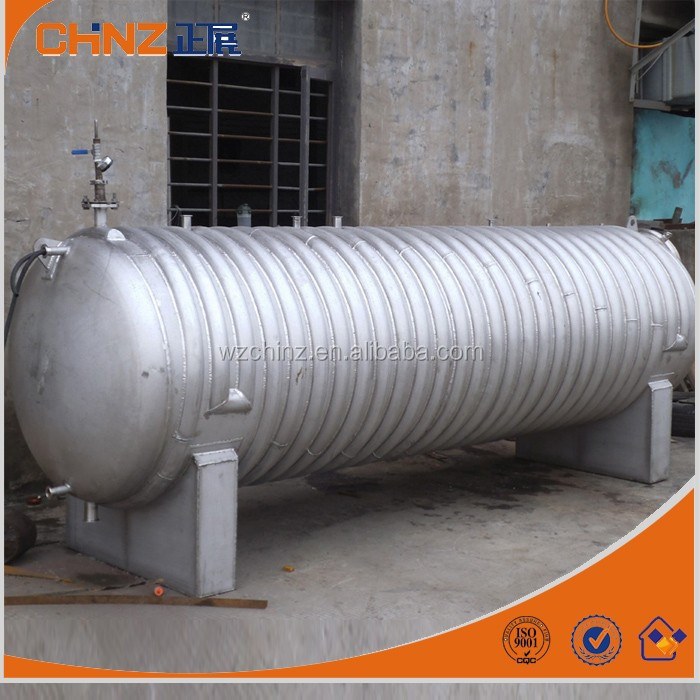 Horizontal stainless steel water storage tank