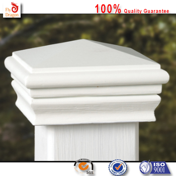 High quality polyurethane moulding 4w42 plastic fence post caps