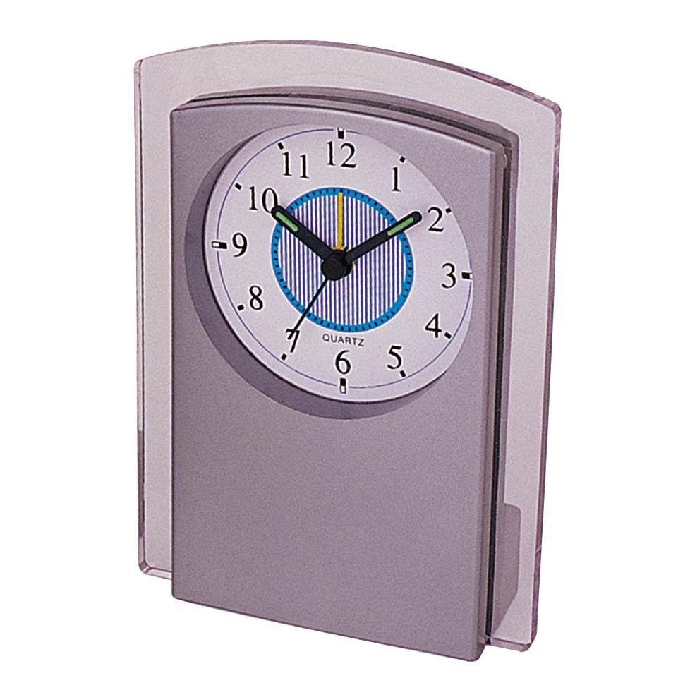 Supplies creative retro table clock plastic silver alarm clock