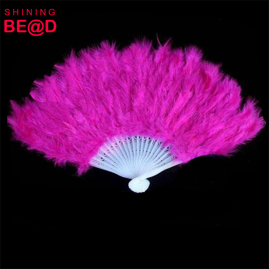 plastic hand dancing colorful feather fan