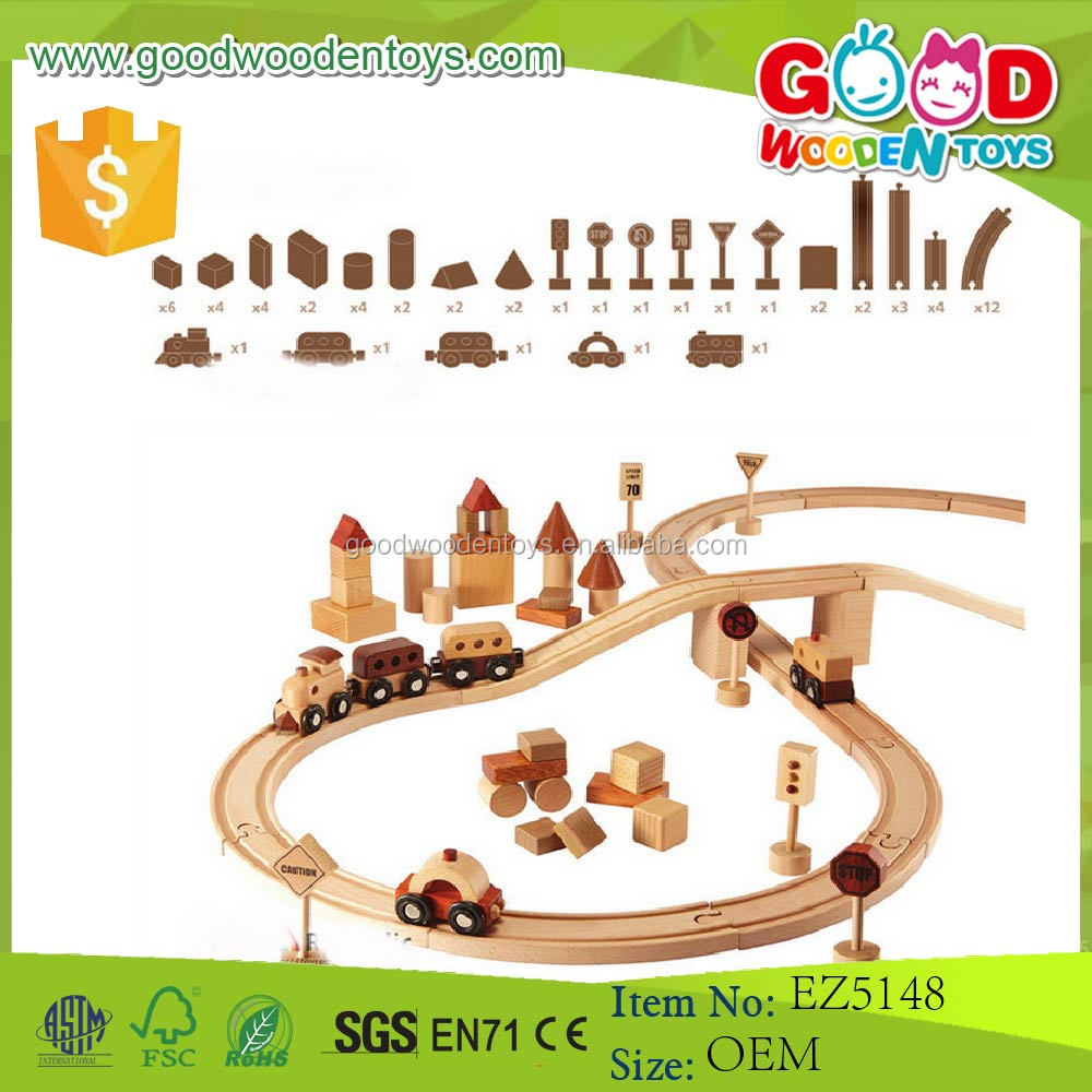 New Design in 2017 Beechwood Kids Toy Wooden Train Track for Sale