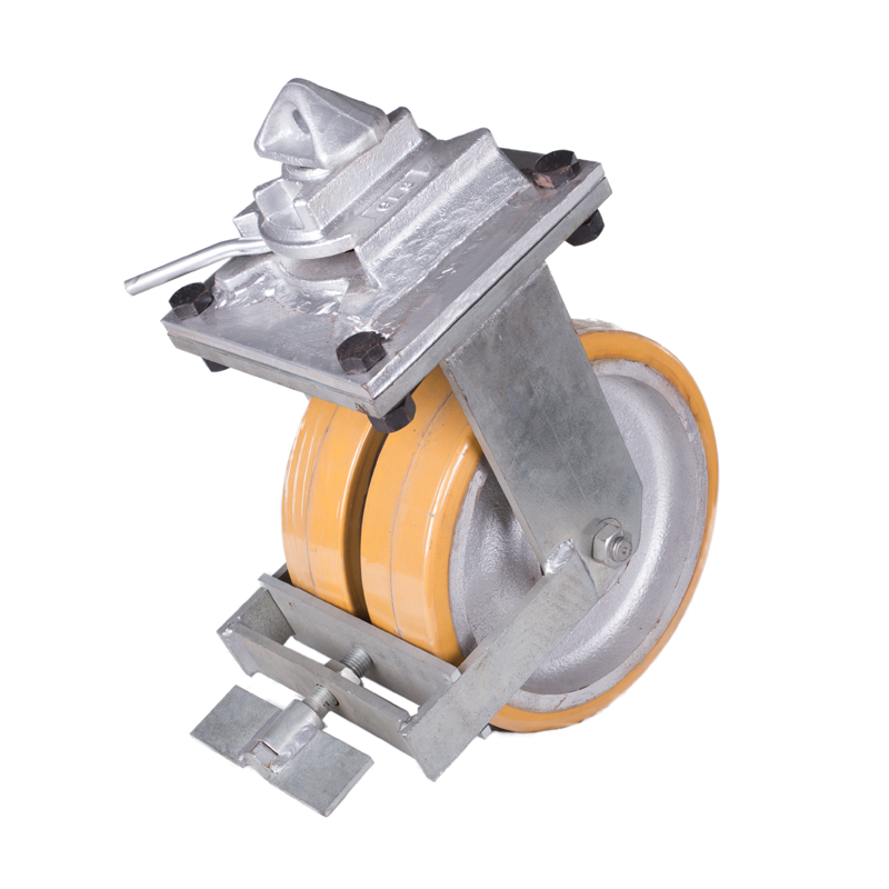 Industrial PU rigid heavy duty shipping container caster wheels