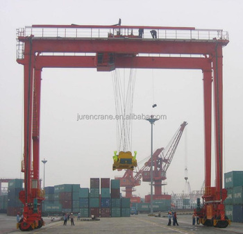 Rubber Tyre Gantry Crane for Lifitng 20 Feet and 40 Feet Container