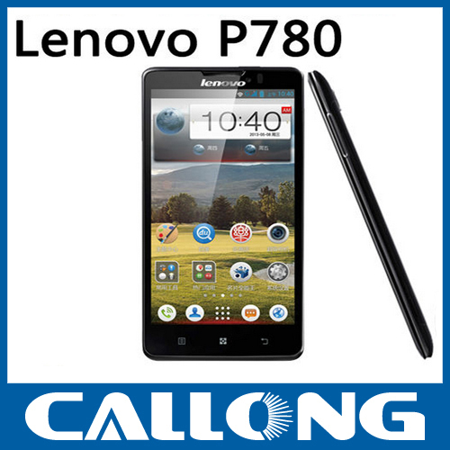 Original smart phone lenovo P780 quad core 5 inch mobile Android handset 8 mp camera 3G cellphone