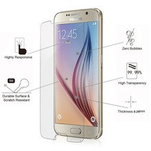 9h tempered glass mobile phone screen protector film guard for Samsung galaxy S6 S7 S8 tempered glass