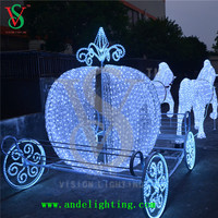 3D outdoor christmas decoration wedding horse carriage for sale