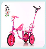popular and beauty tricycle toy for twins with handlebar withbest quality for2-6 years old