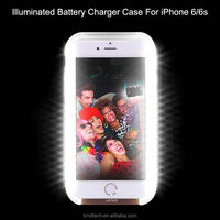 Hot Fashion Women Girls Illumianted LED Selfie Battery Phone Case for iPhone 6 6S Light Up Cover