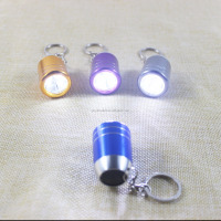 6 LED Aluminium Bell mouth Mini Led keychain Flashlight