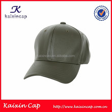 Curved Bill 6 Panels Leather Baseball Cap Easy Cap