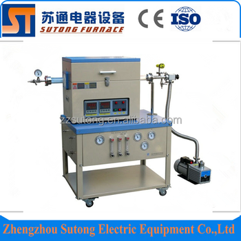 1400 Degree ST-1400CGV Atmosphere Furnace Electric Tube Furnace