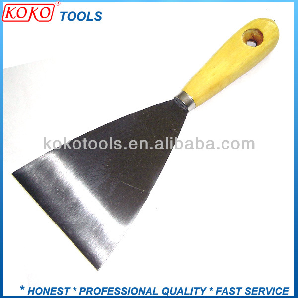 105mm length wooden handle putty knife