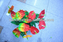 5 heads bundle artificial Red Anthurium flowers