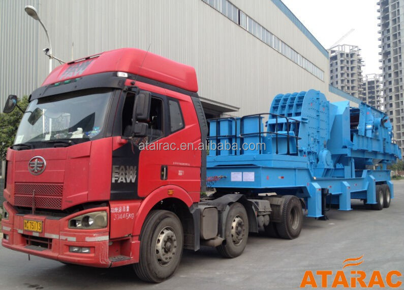 Large capacity cheap mining stone jaw tracked mobile crusher supplier