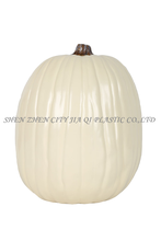 "Wholesale 13"" White Carvable Polyurethane Halloween Pumpkin"