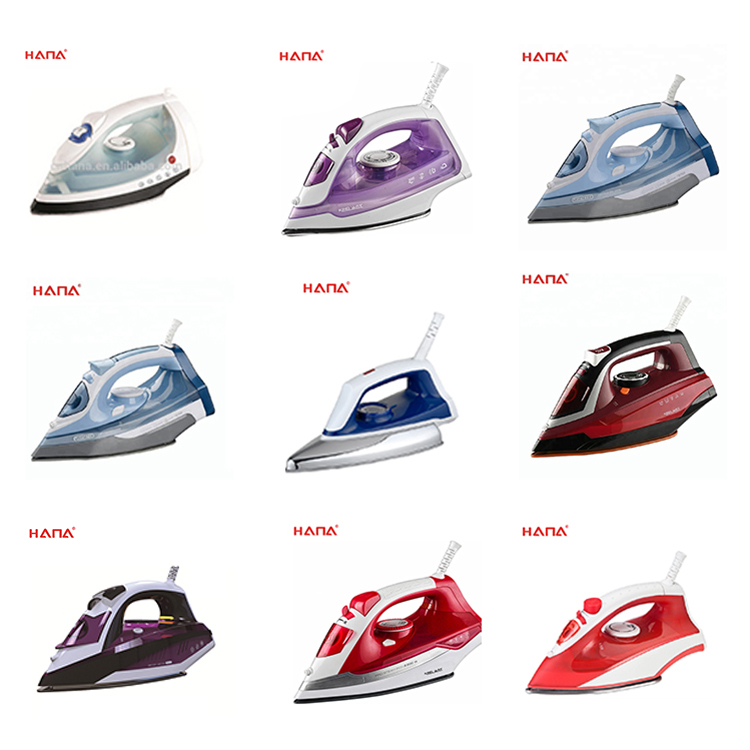 Self-cleaning auto-shut off anti-calcium anti-drip light weight adjustable temperature control electric steam iron