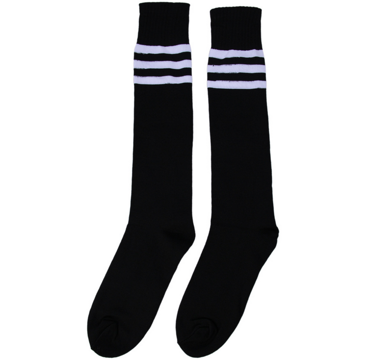 2017 Striped Classic Design Sport Over Knee Pure Cotton Soccer Socks
