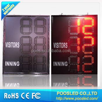 score led curtain sign \ led with \ score led display box