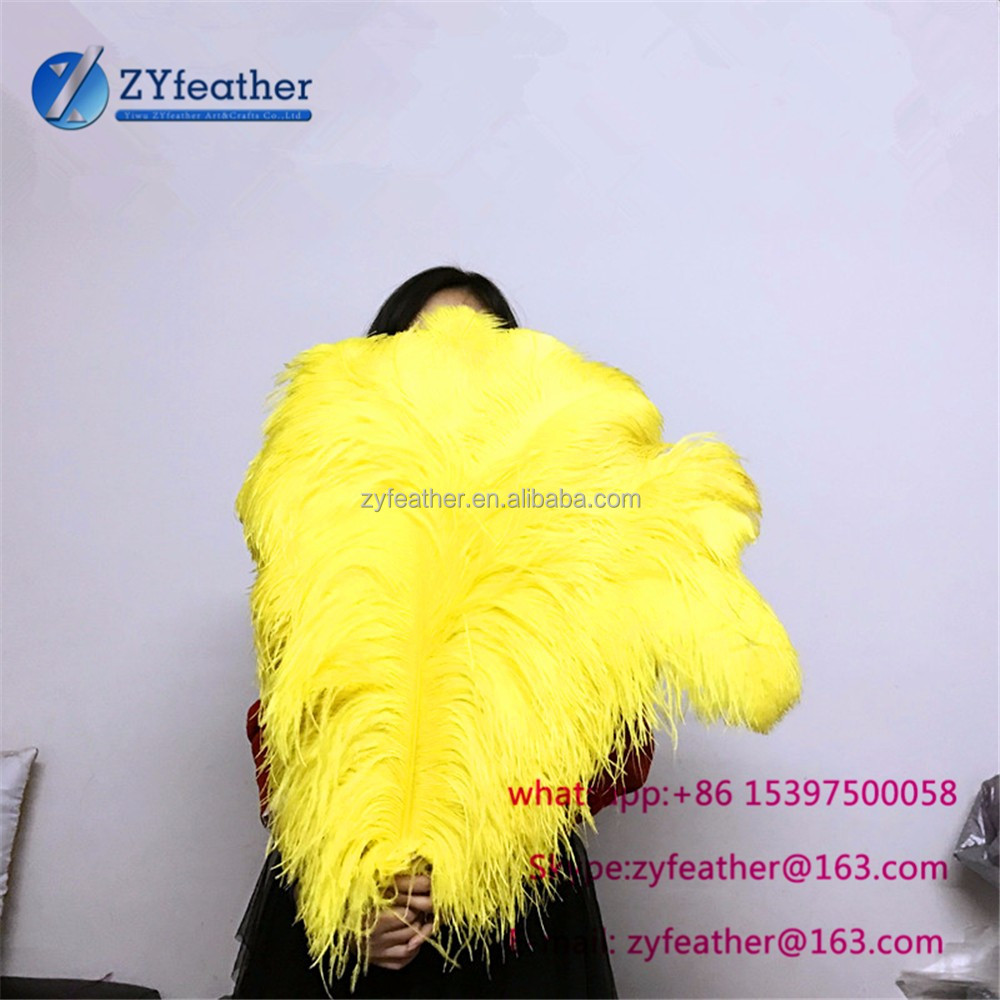 Manufacturer dyed fabulous gold yellow long home decoration feather for christmas decoration