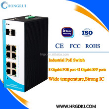 100/1000M industrial poe switch for CCTV IP camera popular india ,UK,USA market