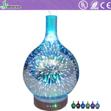 Wholesale price ultrasonic humidifier aromatherapy 3D glass essential oil arom diffuser