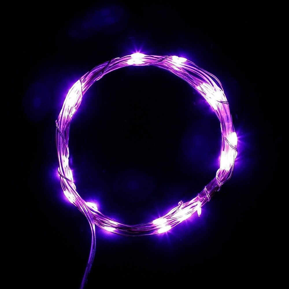 10 meter decorative led light copper wire transparent silver copper wire led string