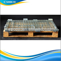 Plant Wire Mesh Cage Round with Wooden Pallet