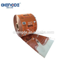 plastic metalized material laminating snack food Packaging film in rolls