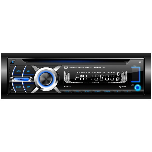 (FY7056) 1 din detachable panel multi-media car DVD player audio stereos with BLUETOOTH/DVD/VCD/CD/MP4/MP3/AM/FM