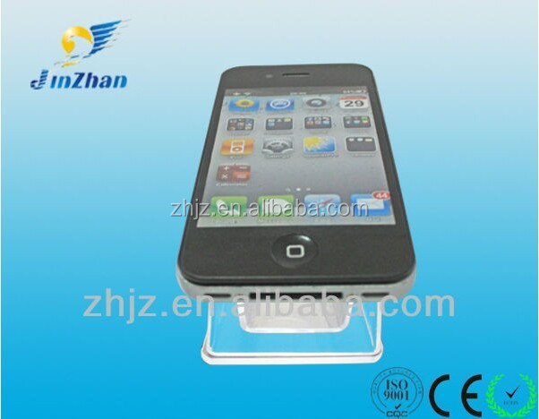 mobile phone exhibition stand with security alarm and charging cable