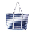 Blue and White Stripe Cotton Canvas Woman Handbag Manufacturer
