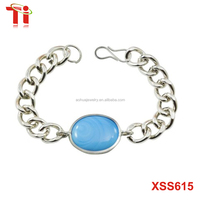 316L stainless steel turquoise made Pendant Combo and Salman Khan Bracelet