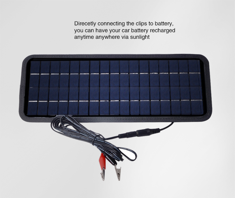 12v Volt Solar Panel Power Car Camper Motorhome Caravan Battery Trickle Charger