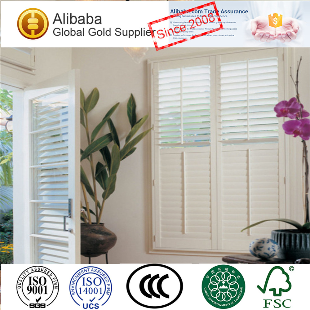 Novel Product Half Price White Coated Plantation Shutters Lafa