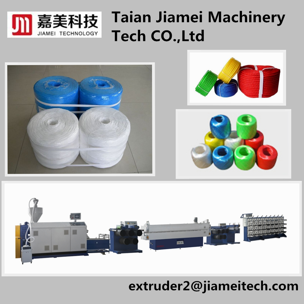 Single screw Round Polypropylene Mono filament Yarn extrusion Machine extruder drawing line