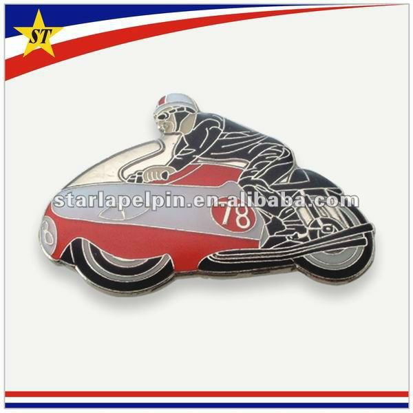 funny cheap souvenir customized transport metal motorcycle pin