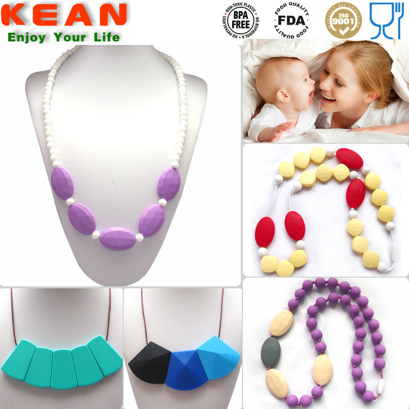 BPA Free Food-safe Silicone Teething Replica Necklace Manufacturer China