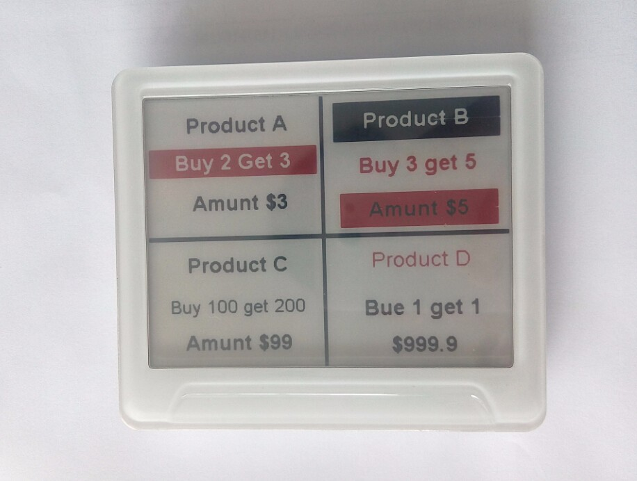 HD e-ink display 2.4GHz supermarket electronic shelf epaper price display tag label ESL