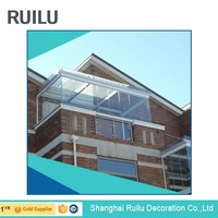 Metals aluminum sunroom,aluminium profile for glass roof