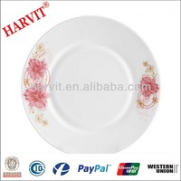 Flower Decorative Opal Glassware Salad Plates/Cake Plates/Meat Plates/Oval Plates/Serving Platter/Trays/Butter Dishes For Sale