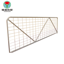 Promotion barred farm gate panel high quality metal fencing temporary fence panels hot sale