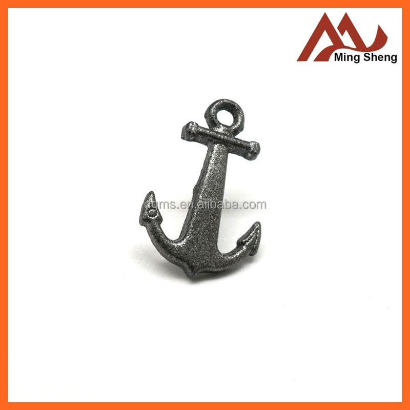 wholesales fashion cute metal anchor pin badge for decoration