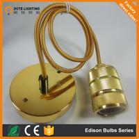 Vintage Copper Pendant Lamp Restaurant Pendant Lights Retro Edison bulbs Creative Hanging Lighting Fixture V002