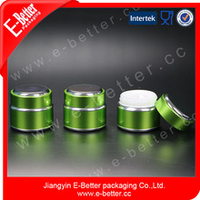 custom luxury green 50ml aluminum body butter jar for personal care wholesale