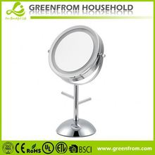 Round Table Shower Rolling Makeup Case With Mirror Light